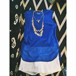 🎉7-17 HP👯Vince royal blue sheer top