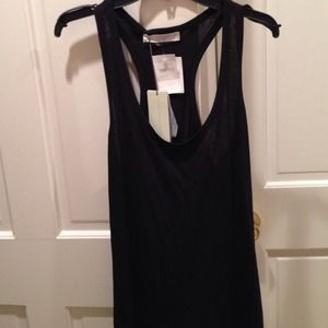 Stella McCartney Black 100% cotton Tank 44 NWT