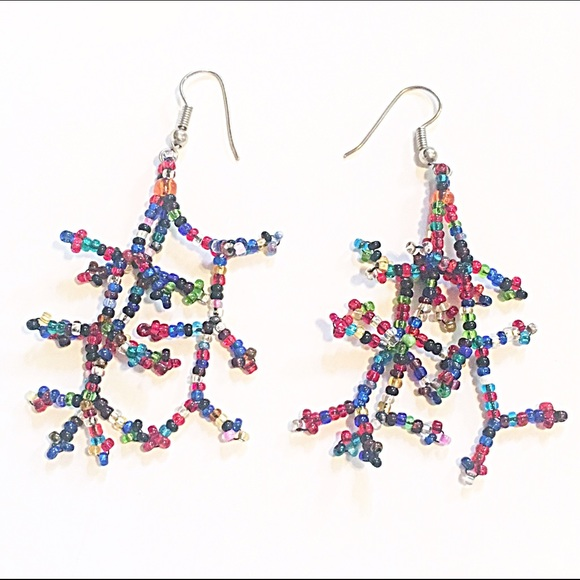 Handmade Jewelry - 🌈👂🏼Multi-Colored Seed Bead Earrings
