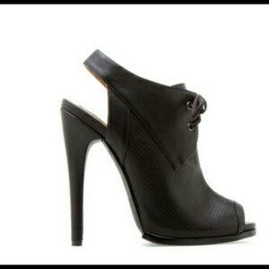 Shoes - Black Peep-toe bootie