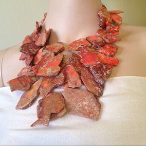 Jewelry - WOW!! NWT GENUINE AGATE &SS NECKLACE
