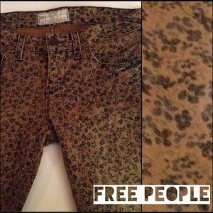 CLOSING SALE Free People Floral Skinny Jeans