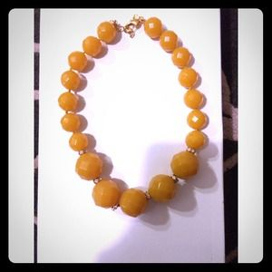 J.crew factory yellow beaded necklace