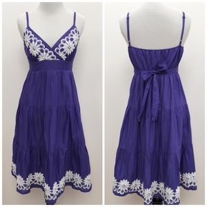 Oasis Dresses & Skirts - Purple Oasis Embroidered Sundress