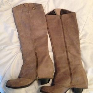 Grey Suede Fergie Ledger Boots
