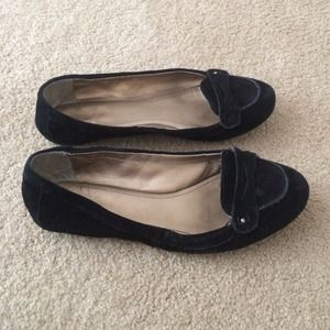 BCBGeneration Shoes - BCBGeneration Black Suede Penny Loafers Flats
