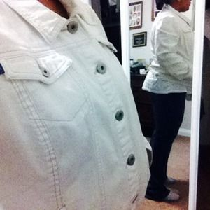 Bandolinoblu Jackets & Blazers - Bandilinoblu White Jean Jacket