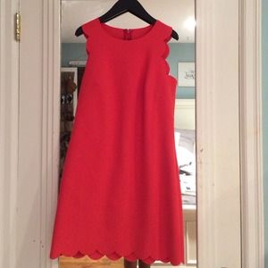 J. Crew Dresses & Skirts - J.Crew scalloped coral dress