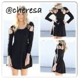 Sabo Skirt Caged Black dress