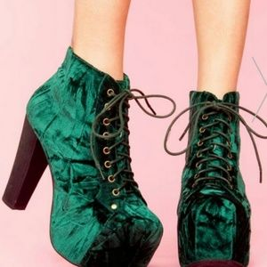 Jeffrey Campbell Shoes - Jeffrey Campbell Litas, Green Suede