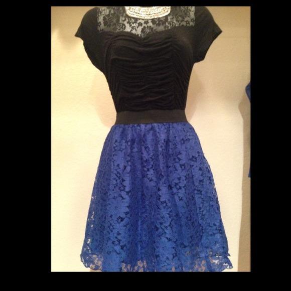 40 h m dresses skirts brand new h m blue lace