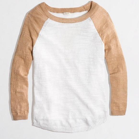 J. Crew Sweaters - SALE!❤️NWT J. Crew Linen Baseball Sweater