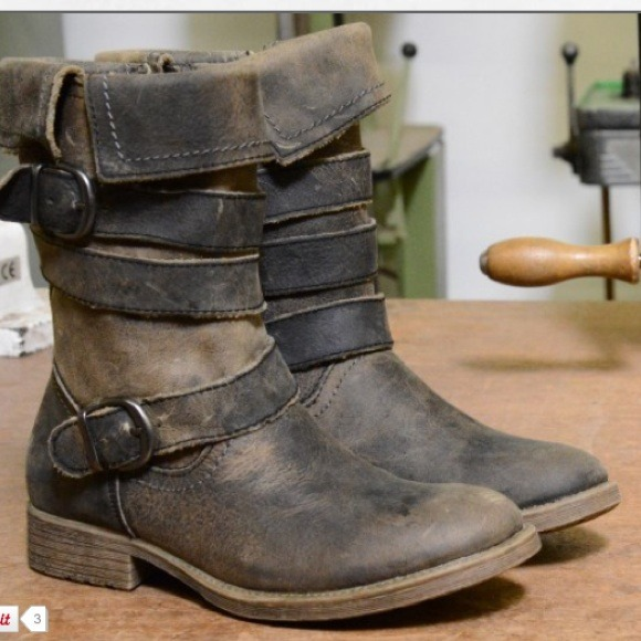 Bed Stu Shoes Lies Fold Over Distressed Leather Boots Poshmark