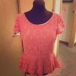 Coral Xhilaration blouse