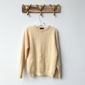 Charter Club Sweaters - Light Yellow Cableknit Sweater