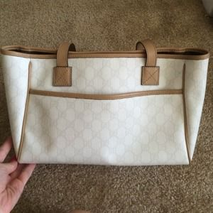 Gucci white bag