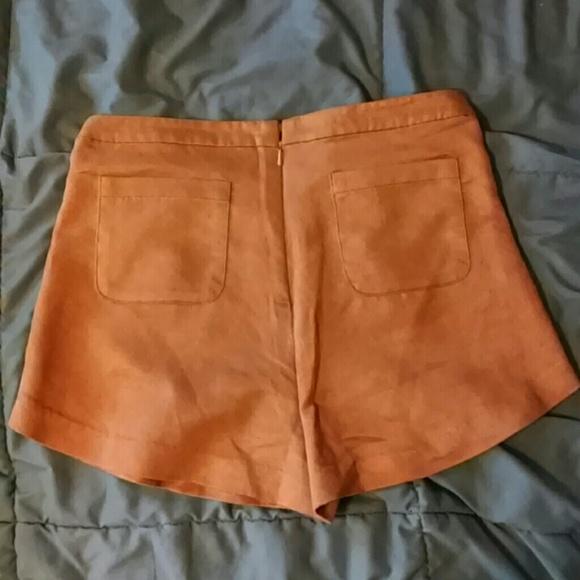 68% off Pants - Vintage 60s 70s High Waist Suede Corset Shorts ...
