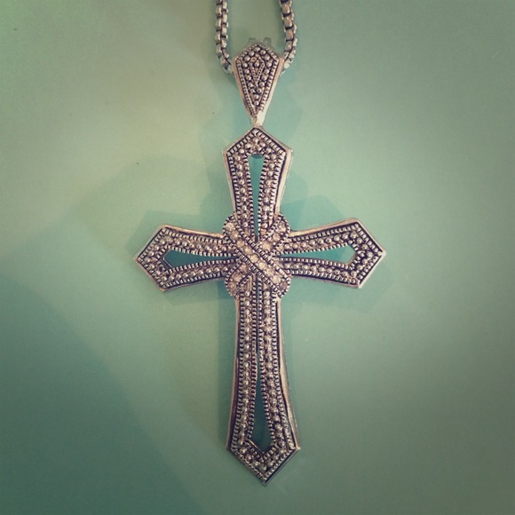 66 off premier designs jewelry silver embellished cross for Premier jewelry cross ring