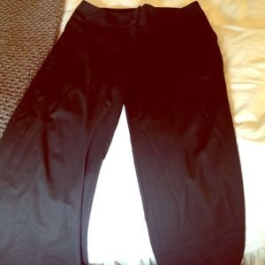 Diane Von Furstenberg Wide Leg Black Trousers 6