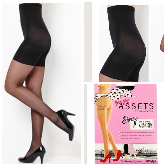 536b70840 New Spanx black shaping pantyhose in size 1