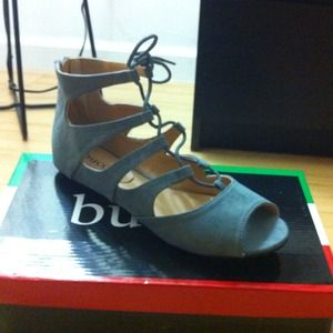 Brand new Gray Lace Up Gladiators