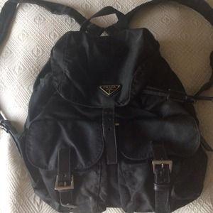prada black clutch bag - Prada - Authentic mini Prada nylon backpack. from Linda's closet ...