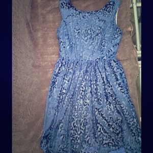 Zara leopard print dress small