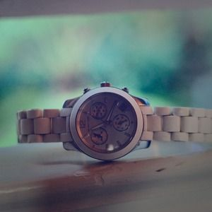 Authentic White Michael KORS Watch