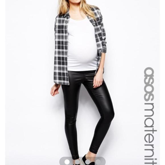 b1031aa542030 ASOS Pants | Maternity Matte Leatherlook Leggings | Poshmark