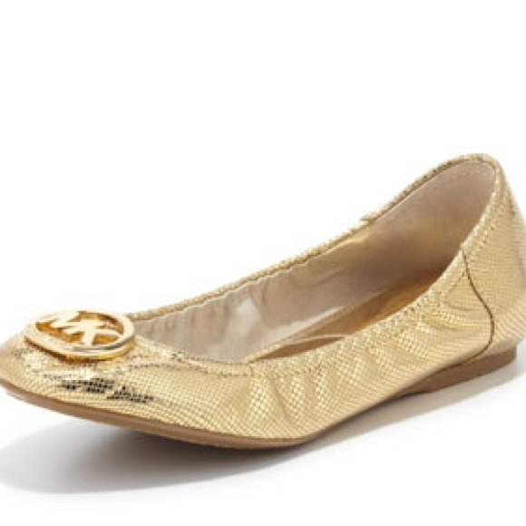 Michael Kors Gold And Black Shoes