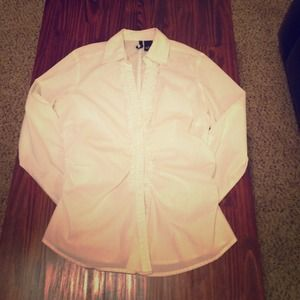 Ruched white dress top