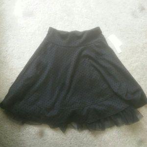 Black poka dot skirt
