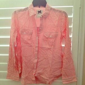 Classic Coral stripe dress shirt-xs
