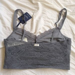 Hollister Tops - Hollister & Gilly Hicks Gray Lace Bralette!
