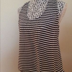 Black and white Gap striped tank top