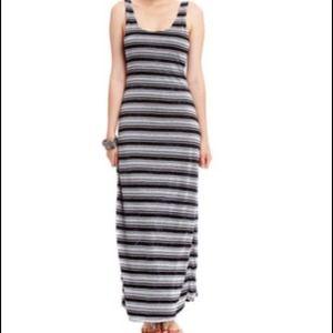 Bebe 2B Tie Dye Stripe maxi full Tank Top Dress