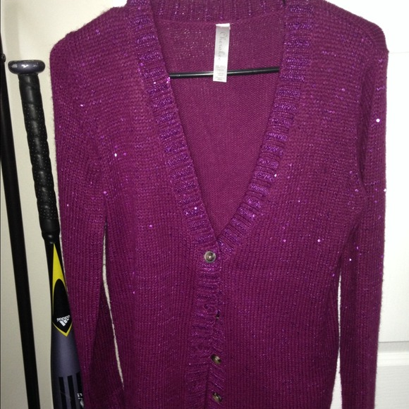 60% off Sweaters - Purple sequin sweater from Sarah's closet on ...