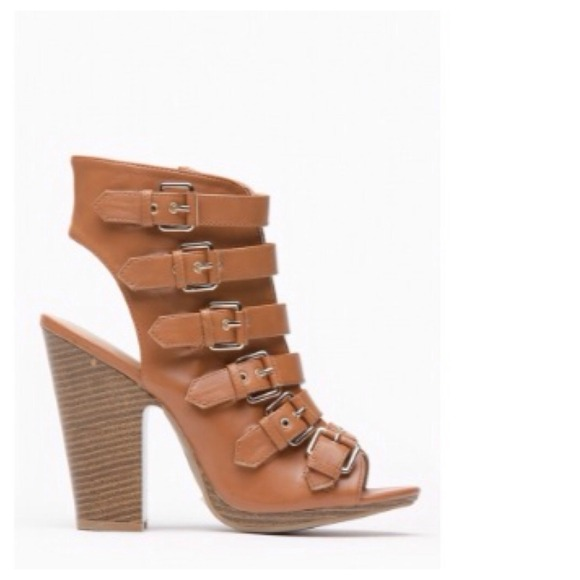 SALE Faux Tan Leather Gladiator Ankle Booties 6, 6.5, 7, 8 from ...