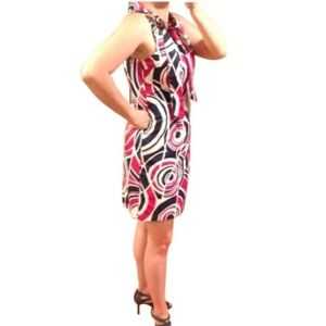 NEW w/tag Merona cherry swirl print sheath dress 8