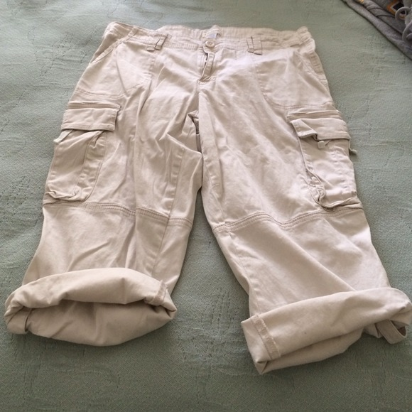 33% off Maurices Pants - Maurice's Cargo-Style Khaki Capris from ...