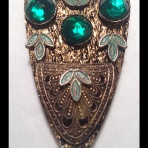 Jewelry - Vintage Edwardian Victorian Emerald Dress Clip