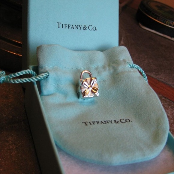 72168b1fd7493 Authentic Tiffany sterling silver gift box charm