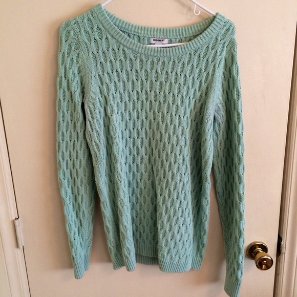 63% off Old Navy Sweaters - ❌SOLD❌ Honeycomb Knit Mint Sweater ...