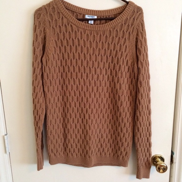 75% off Old Navy Sweaters - Honeycomb Knit Brown Sweater from ...
