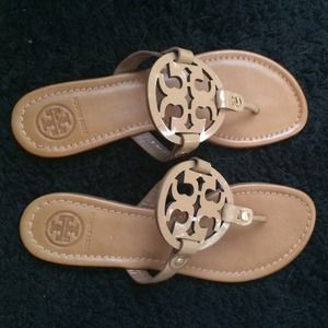 8636beef127e Tory Burch Shoes - Tory Burch Miller Saffiano Patent Sandals