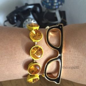 HOST PICK J.Crew Yellow Linked Gems Bracelet