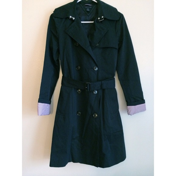 NEW! TOMMY HILFIGER Navy Blue Trench Coat NWT