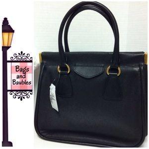 Prada Handbags - NWT - PRADA Saffiano Lux Top Handle Frame Tote