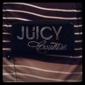 Juicy couture  terry zip clutch