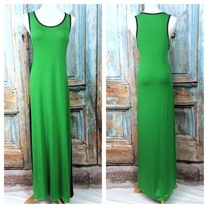 🎉SALE🎉 Calvin Klein Bright Green Maxi Dress